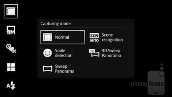 Camera interface - Sony Ericsson Xperia arc S Review