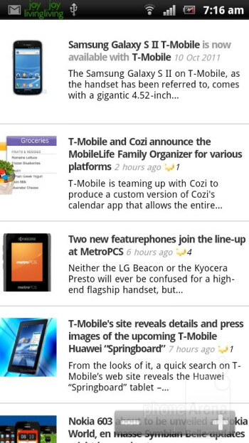 Web browser - Sony Ericsson Xperia arc S Review