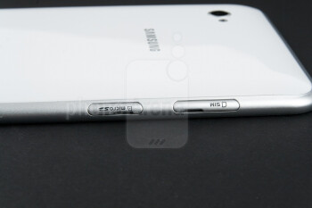 Along the left side of the device there are a microSD and a SIM card slot - Samsung Galaxy Tab 7.0 Plus Preview
