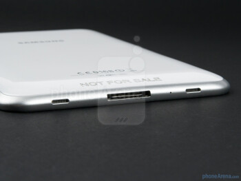 Bottom edge with speakers and charging port - Samsung Galaxy Tab 7.0 Plus Preview