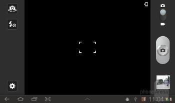 Camera interface - Samsung Galaxy Tab 7.0 Plus Preview