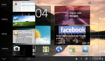 Multitasking - The Samsung Galaxy Tab 7.0 Plus has TouchWiz UX user interface on top of Honeycomb - Samsung Galaxy Tab 7.0 Plus Preview