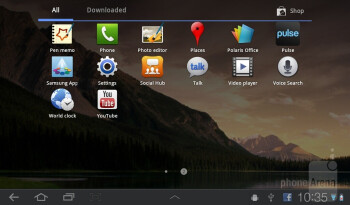 The Samsung Galaxy Tab 7.0 Plus has TouchWiz UX user interface on top of Honeycomb - Samsung Galaxy Tab 7.0 Plus Preview