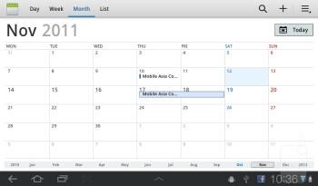 Calendar - Samsung Galaxy Tab 7.0 Plus Preview