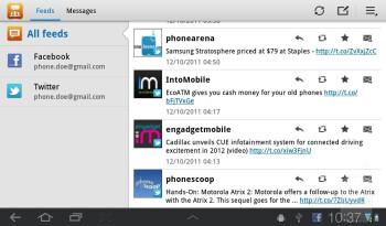 Web browsing - Samsung Galaxy Tab 7.0 Plus Preview