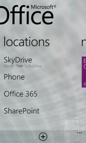 SkyDrive - Samsung Omnia W Preview