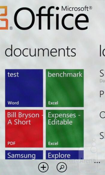 Microsoft's Office Mobile - Samsung Omnia W Preview