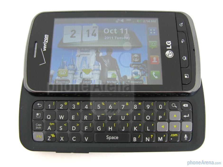 The LG Enlighten has a 4-row keyboard - LG Enlighten Review