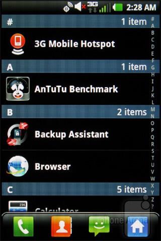 The app drawer - LG Enlighten Review