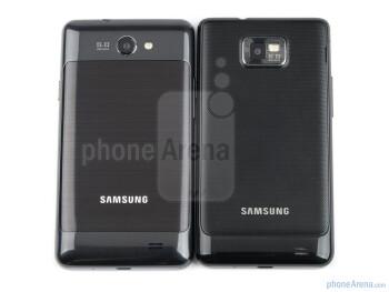Samsung Galaxy R (left), Samsung Galaxy S II  (right) - Samsung Galaxy R Review