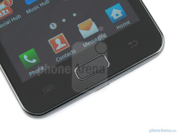 Buttons below the display - Samsung Galaxy R Review