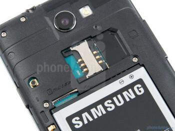 Back cover removed - Samsung Galaxy R Review