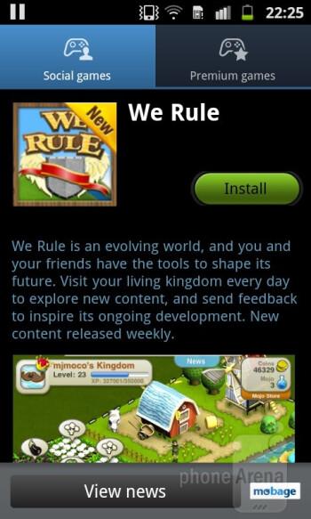 Game Hub - Samsung Galaxy R Review