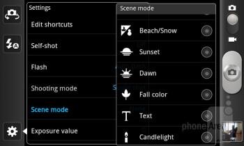 Camera interface - Samsung Galaxy R Review