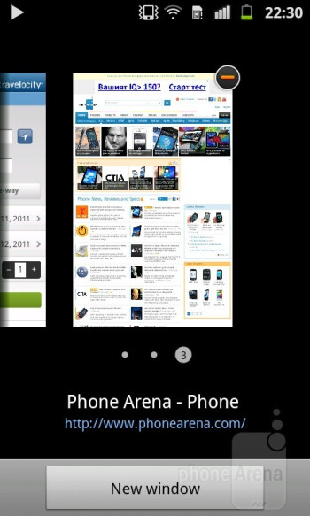 The stock internet browser on the Samsung Galaxy R gets its job done flawlessly - Samsung Galaxy R Review