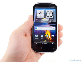 The HTC Amaze 4G feels heavier than most in the hand - HTC Amaze 4G Review