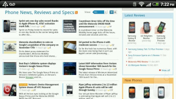 Internet browser of the HTC Amaze 4G - HTC Amaze 4G vs Samsung Galaxy S II