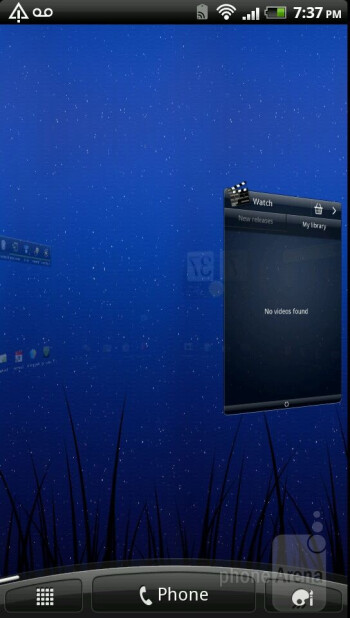 The HTC Sense 3.0 user interface of the HTC Amaze 4G - HTC Amaze 4G vs Samsung Galaxy S II