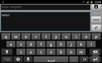 Virtual keyboard - Samsung GALAXY Note Preview