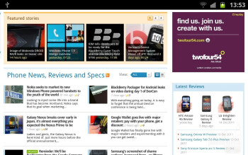Web browsing - Samsung GALAXY Note Preview