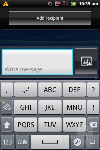 On-screen keyboard - Sony Ericsson Xperia active Review
