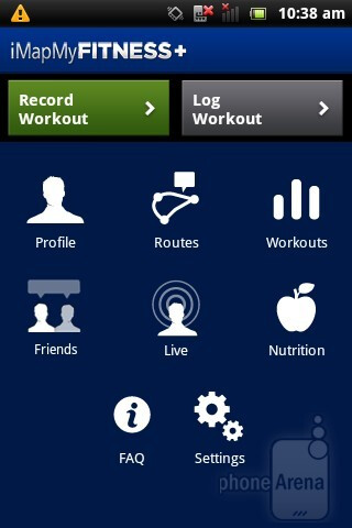 iMapMyFITNEESS - Pre-loaded applications on the Sony Ericsson Xperia active - Sony Ericsson Xperia active Review