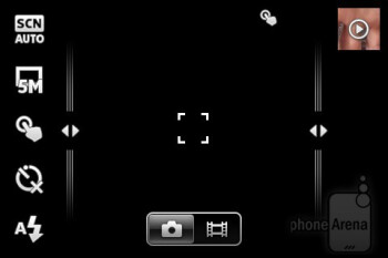 Camera interface - Sony Ericsson Xperia active Review
