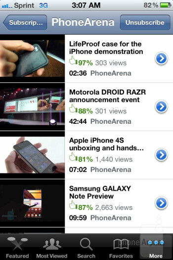 YouTube app - Apple iPhone 4S Review