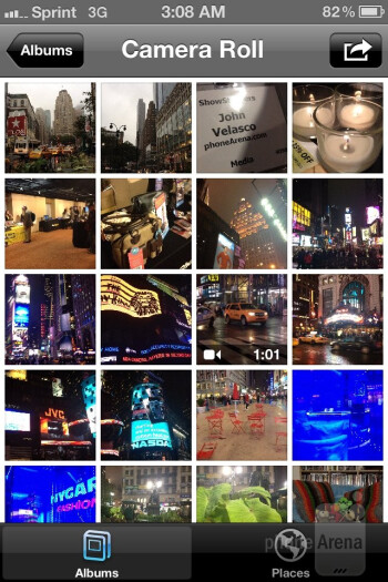 The Photo gallery on the Apple iPhone 4S now provides us with some basic editing functions - Apple iPhone 4S Review