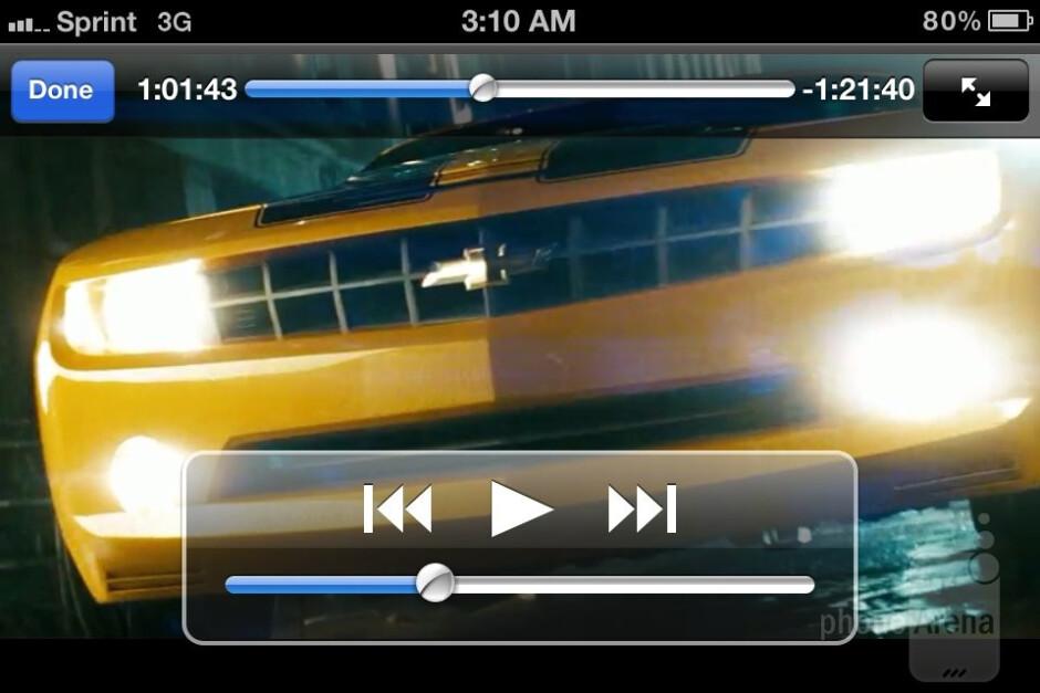 Video playback on the Apple iPhone 4S - Nokia Lumia 900 vs Apple iPhone 4S
