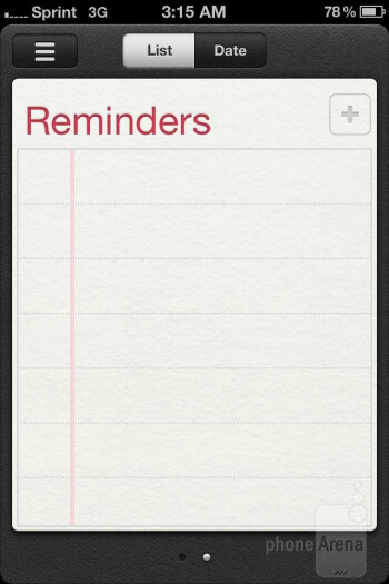 Reminders - Apple iPhone 4S Review