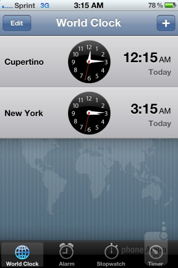 Core organizer apps on the Apple iPhone 4S - Apple iPhone 5 vs Apple iPhone 4S