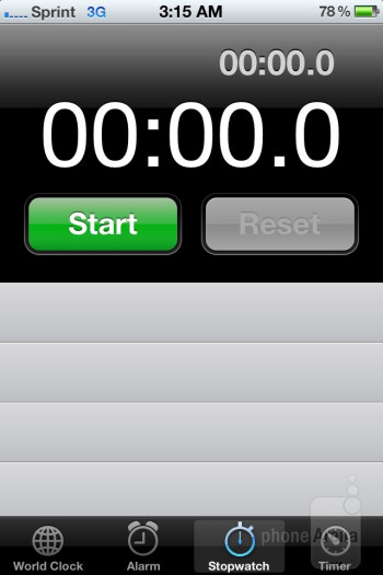 Stopwatch - Apple iPhone 4S Review
