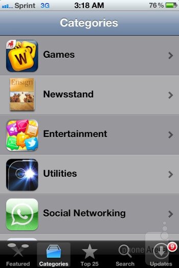App Store - Apple iPhone 4S Review