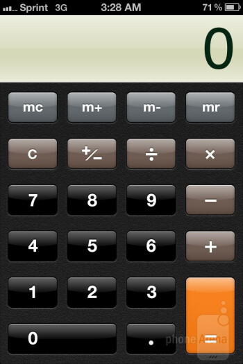 Calculator - Apple iPhone 4S Review