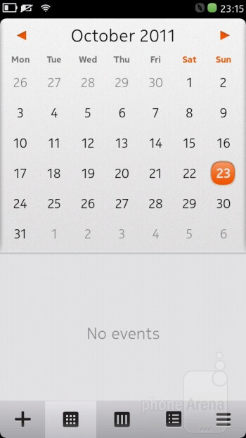 Calendar - Nokia N9 Review