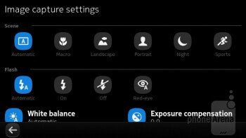 Camera interface - Nokia N9 Review