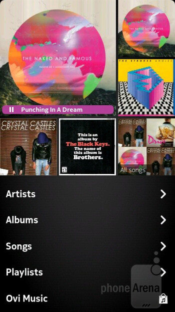 Music player - Nokia N9 Review