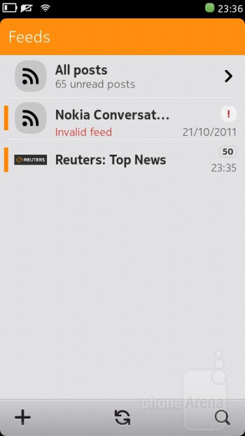 RSS Feeds - Nokia N9 Review