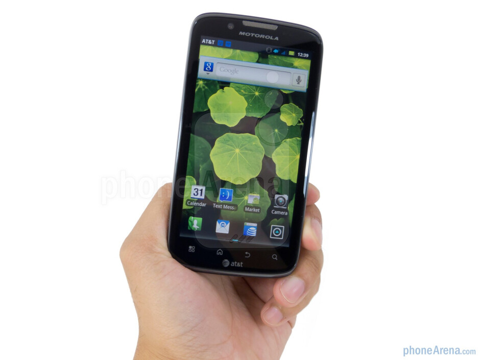 The Motorola ATRIX 2 is very comfortable to hold without coming off as being unwieldy - Motorola ATRIX 2 Review