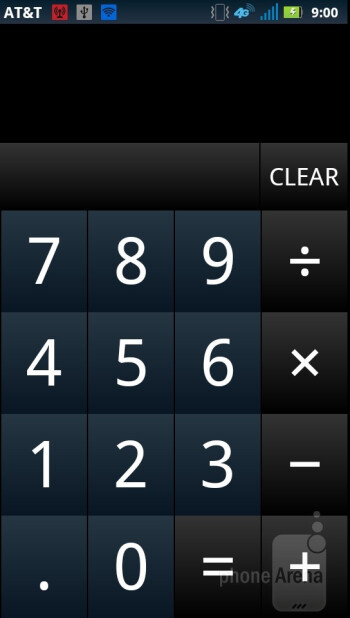 Calculator - Core organizer apps - Motorola ATRIX 2 Review
