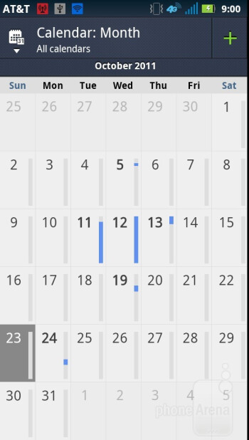 Calendar - Core organizer apps - Motorola ATRIX 2 Review