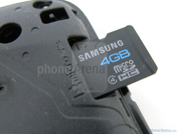 microSD card slot - Samsung Stratosphere Review