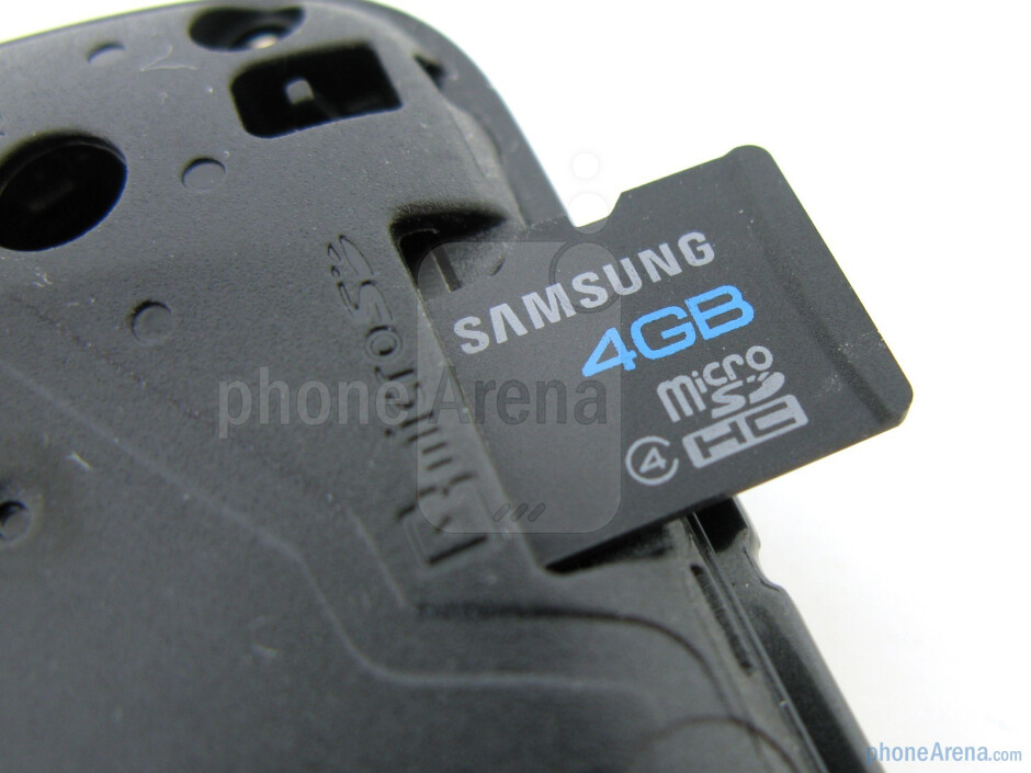 microSD card slot - Samsung Stratosphere Review