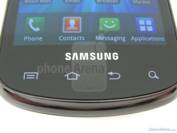 "Touch-sensitive control buttons - On the front of the Samsung Stratosphere  is a 4"" WVGA Super AMOLED display - Samsung Stratosphere Review"