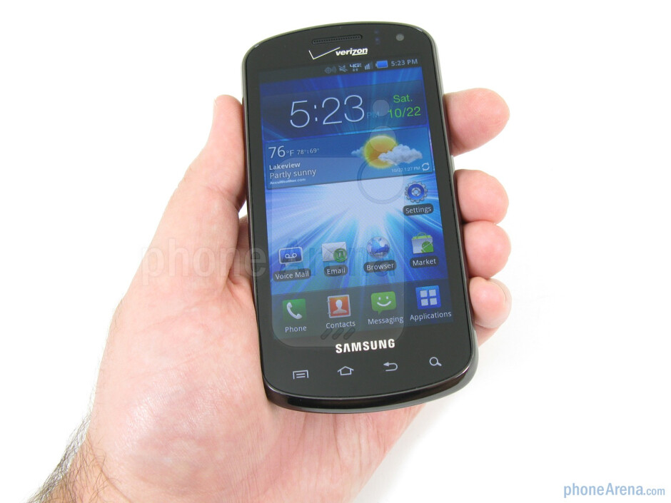 """Even though the Samsung Stratosphere has a plastic shell, it feels more durable and less """"plasticy"""" - Samsung Stratosphere Review"""