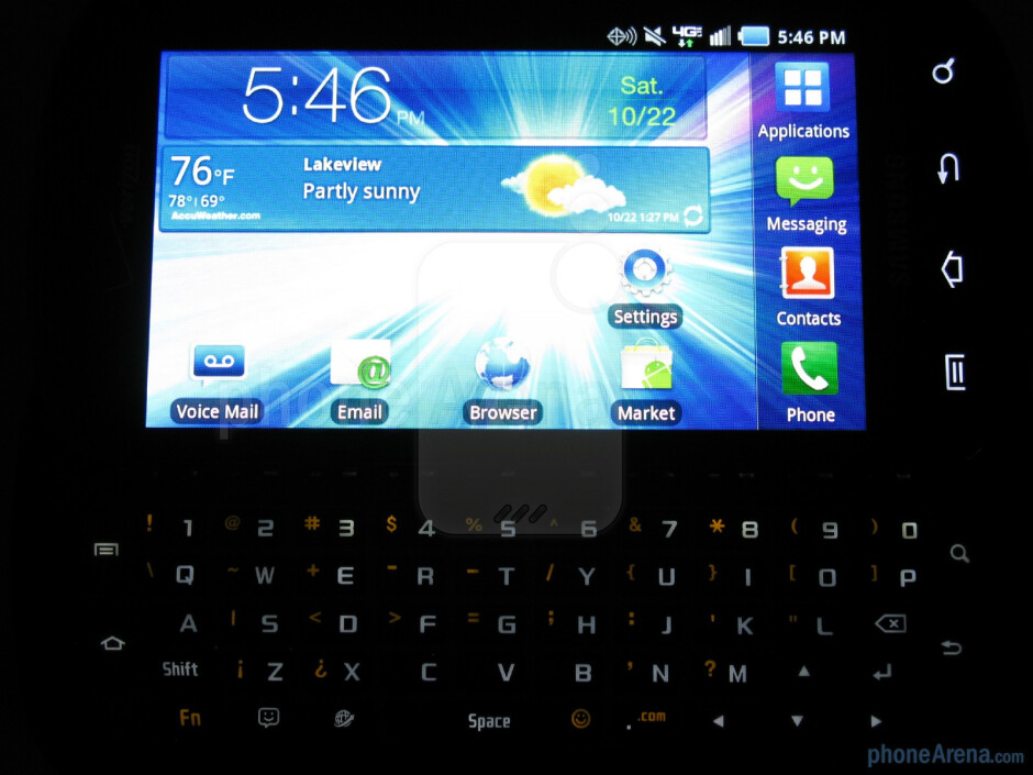 The QWERTY keyboard - Samsung Stratosphere Review