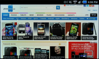 Web browsing - Samsung Stratosphere Review