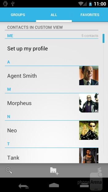 The new People app - Samsung Galaxy Nexus Preview