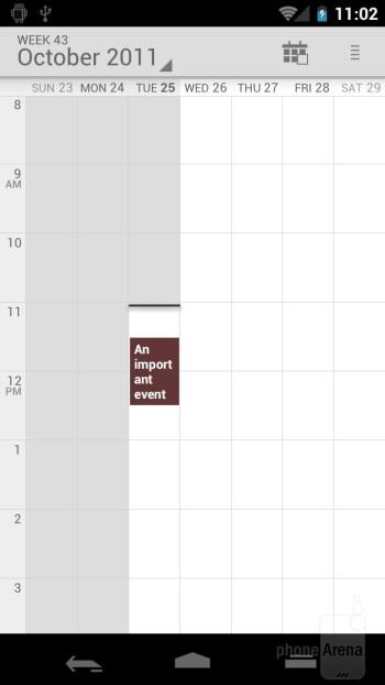 Calendar - Samsung Galaxy Nexus Preview